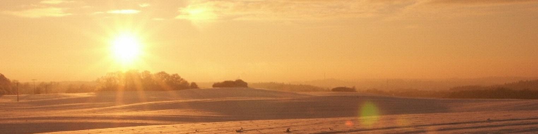 Sonnenuntergang Eiszeit